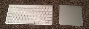 Apple keyboard, trackpad, DVD drive