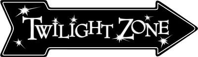 "TWILIGHT ZONE ARROW SIGN  20"" X 6"" METAL TIN BAR MAN CAVE GAME ROOM MOVIE"