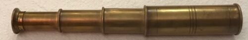 Antique Brass Handheld Pocket Folding Telescope