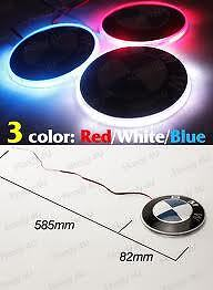 BMW CAR BADGE LIGHT UP BLUE LED 82mm (UK SELLER) LED LIGHT & LOGO