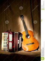 Duo playing accordion and guitar