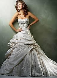 White Maggie Sottero Wedding Dress