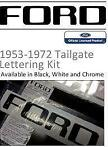 Ford Tailgate belettering 1953-1972