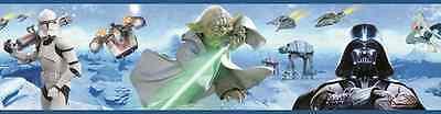 STAR WARS Bordüre - Fototapete 17m Joda Vader Bild Wandbordüre Tapete Poster