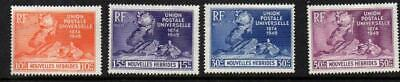 SoD New Hebrides (French) 1949 UPU Anniversary fine MLH CV £22