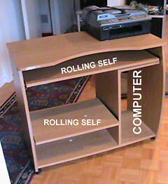 Computer,  Fax  table  Two rolling self. West Island Greater Montréal image 7