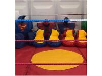 BATTLE ARENA HIRE parties corporate events fairs fetes GIANT BOXING GLOVES