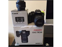 Canon EOS 750D DSLR CAMERA 2 x LENS BOXED AS NEW YOU A COUPLE OF TIMES