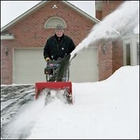 Snow shovelling, clearing of driveways, sidewalks, paths, roofs