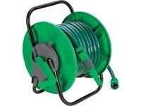 *** BRAND NEW BOXED GARDEN HOSE AND REEL WITH ALL FITTINGS FOR SALE ***