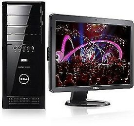 Fast Dell XPS 430 Quad Core - Cad -Adobe - -Desktop Computer PC With Dell 21""