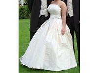 Ivory wedding dress, size 12