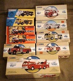 Corgi Diecast, mint in boxes,  Vehicles, Fire Trucks