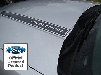 2010 2012 Ford Mustang Hood Spear Cowl Stripe Graphic Decal Sticker Package Loc