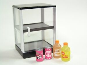 Re-ment Doll Open convenience store equipemnt #4-Cool drink fridge juice & wine