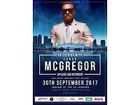 Two tickets for sale for an Evening with Conor McGregor, London