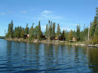 Resort 8.7 ac 7 cottages 643' on Wild Goose lake near Geraldton