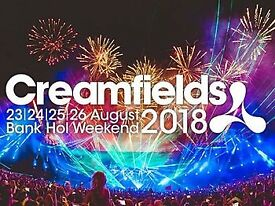 Creamfields 3 day bronze camping ticket