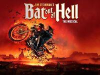 Jim Steinman's Bat out of Hell Tickets x2 London Coliseum, Sat 17 Jun 2017, 19:30
