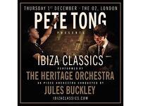 Pete Tong Ibiza Classics O2 London 01st December Today