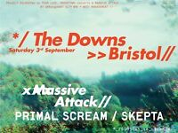 massive attack at the downs bristol tickets, primal scream and skepta, sat 3 september £85 each