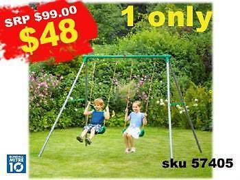 swing set double swing Gold Coast City Preview
