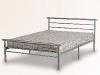 Free silver metal double bed frame