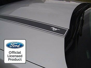 10   12 Ford Mustang Hood Spear Cowl Stripe Graphic Decal Sticker Package   Lod