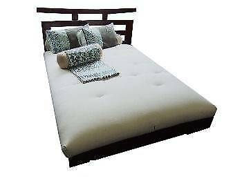 black lower futon style double bed frame