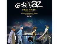 X2 Gorillaz Tickets - NEED GONE