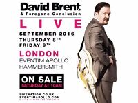 2 tickets for David Brent & Foregone Conclusion