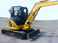Large Mini Excavator and Heavy Tracked Bobcat for Hire!