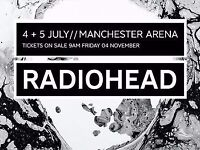 Radiohead Concert Tickets, Manchester Arena, 4/07/2017 . 3 tickets