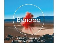 Bonobo tickets x 2 Alexandra Palace 1st June