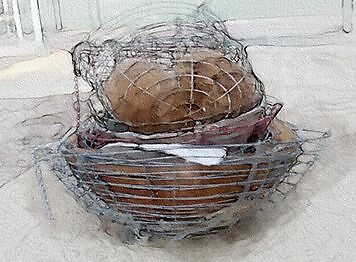 You can use almost anything as a basket, old ones, new ones, even other types - rectangles, cones - there's no limits