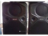 HZ Sound Systems Z500 PA speakers (UK made)