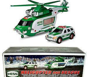 2012 Hess Gasoline Truck Helicopter and Rescue Vehicles &Batteries MIB Brand New