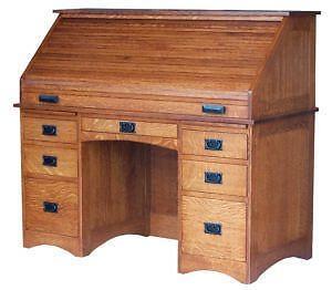 Beau Oak Roll Top Desks