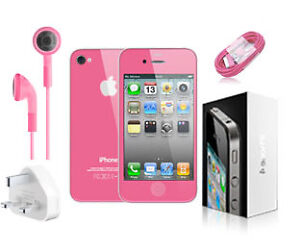 Apple iPhone 4S 16GB Pink! (orange) Boxed + NEW Accessories FREE delivery