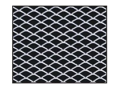 """12"""" X 48"""" CAR TRUCK UNIVERSAL ALUMINUM GRILL GRILLE DIAMOND MESH SECTION SILVER"""