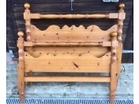 Red Pine Double Bed Frame