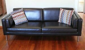 New Modern Leather Sofa / Couch (Can Deliver)