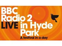 Radio 2 Live in Hyde Park Festival Tickets - 2 tickets £40 each.