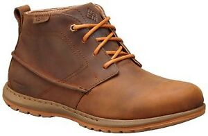 Columbia MEN'S DAVENPORT CHUKKA WATERPROOF LEATHER BOOTS