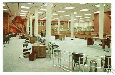 Atlantic National Bank Interior Palm Beach Fl Postcard