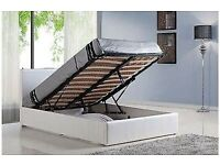 💛💛SAME DAY DELIVERY💛💛DOUBLE LEATHER STORAGE BED FRAME GAS LIFT UP WITH CHOICE OF MATTRESSES
