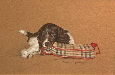English Springer Spaniel Limited Edition Art Print Bag Lady by Debbie Gillingham