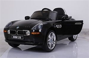 Licensed 12V BMW Z8 Child Ride-On Car with Leather Seat, Remote