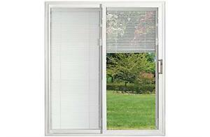 new vinyl sliding doors with blinds