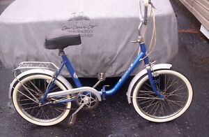 PONY folding bike 60's-70's id say..ORIGINAL condition needs tlc